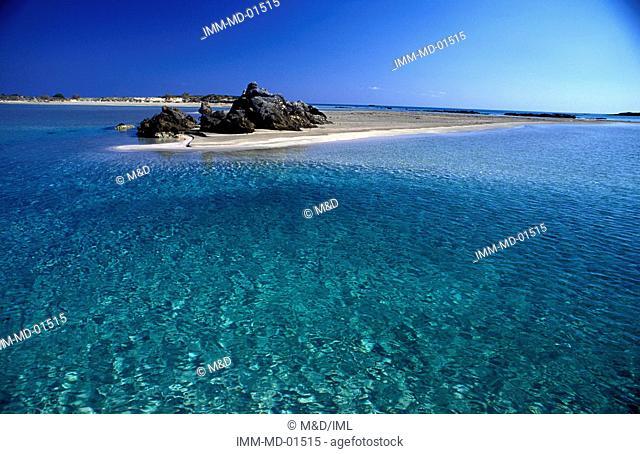 Beach Elafonissi, Hania, Crete, Greece, Europe