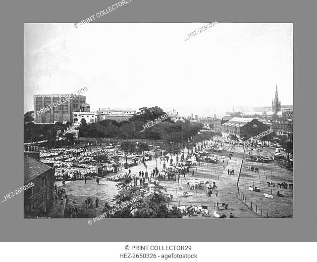 Norwich: Castle,Cattle Market, and Cathedral, c1900. Artist: William Lewis Shrubsole