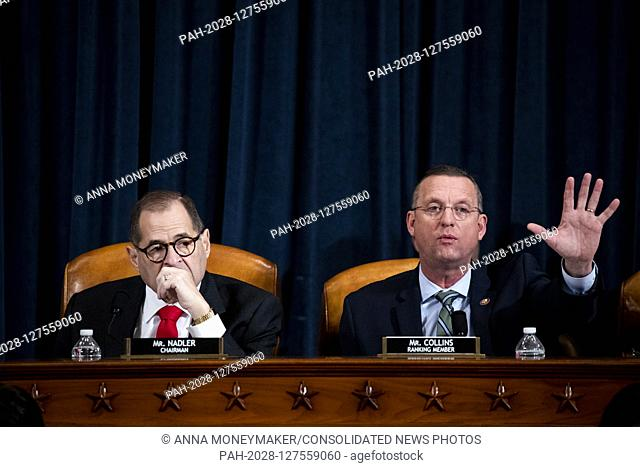 United States Representative Doug Collins (Republican of Georgia), Ranking Member, US House Judiciary Committee speaks at a public impeachment inquiry hearing...