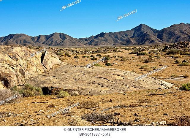 Desert-like landscape with barren hills in Richtersveld,  Ai- Ais Richtersveld Transfrontier Park, Northern Cape, South Africa