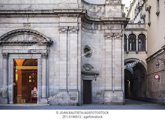 Basilica, church of Merce, baroque style, gothic quarter, ciutat vella district, Barcelona