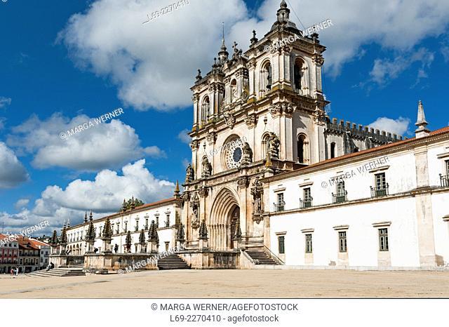 Monastery Santa Maria de Alcobaca, Mosteiro de Alcobaca, World Heritage Site of UNESCO, Oeste, Leiria District, Portugal, Europe,