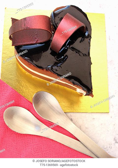 Heart of chocolate for two