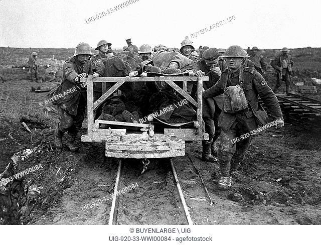 Conveying the Wounded by Rail