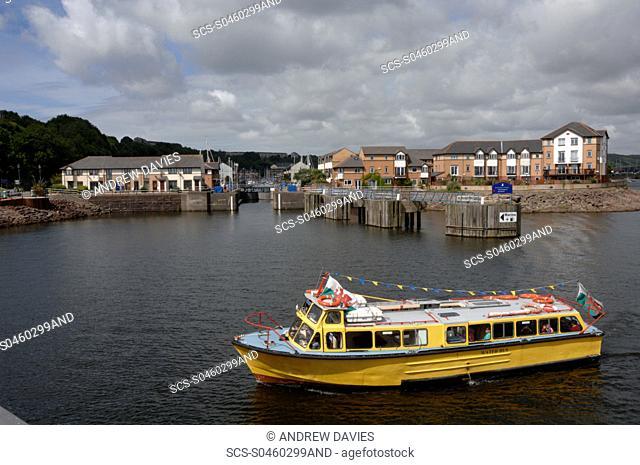 Penarth Marina and water bus, Cardiff Bay, Cardiff, Wales, UK, Europe