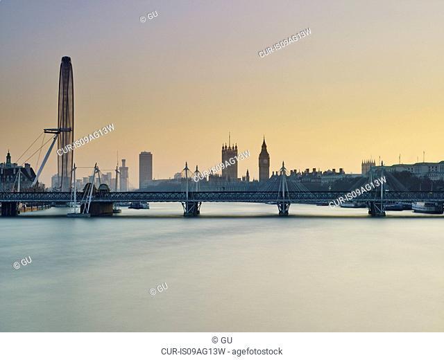 London skyline, River Thames