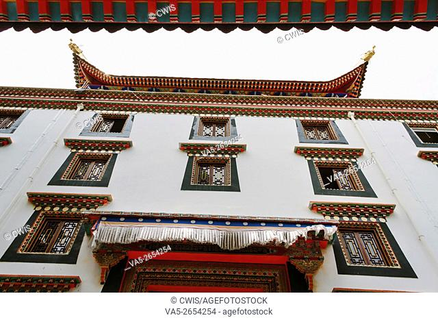 Kangding, Sichuan province, China - The view of Namo monastery, a famous Tibetan Buddhism Temple in the daytime