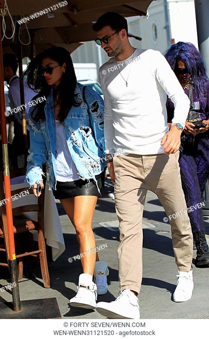 Nicole Scherzinger with Grigor Dimitrov have lunch at Il Pastaio Featuring: Nicole Scherzinger and Grigor Dimitrov Where: Los Angeles, California