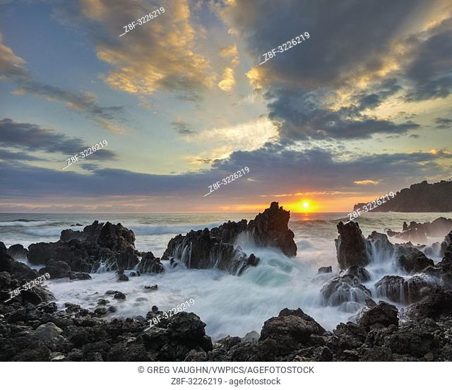 Sunrise at Laupahoehoe Beach Park, Island of Hawaii