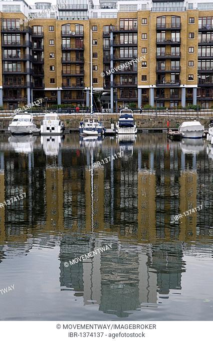 Marina at St Katharine Docks, Docklands, London, England, United Kingdom, Europe