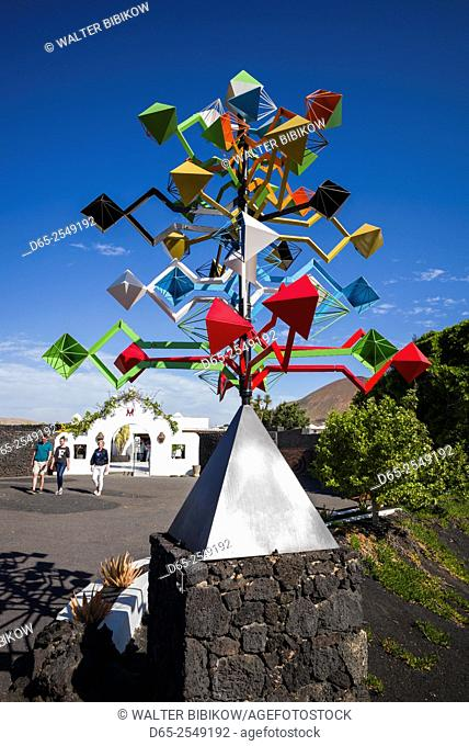 Spain, Canary Islands, Lanzarote, Tahiche, Fundacion Cesar Manrique, wind sculpture