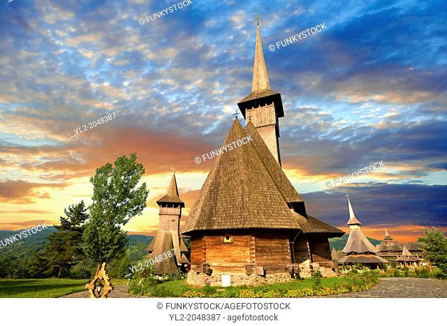 Wooden Churches & Orthdox Monastery of Barsana. Maramures, Northern Transylvania, Romania
