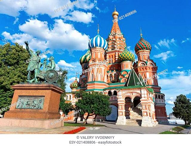 Saint Basil cathedral in Moscow, Russia