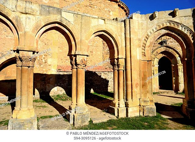 Cloisters of San Juan de Duero in Soria city, Spain
