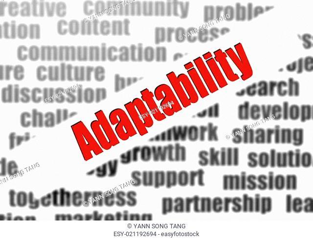 Adaptability word cloud
