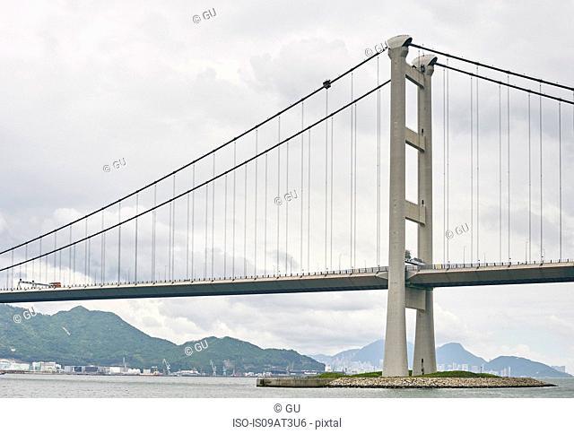 Tsing Ma bridge, Ma Wan, Hong Kong