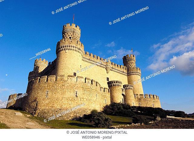 Castle of the Mendoza, Manzanares el Real. Madrid, Spain