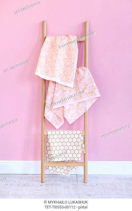 Fabric on rack