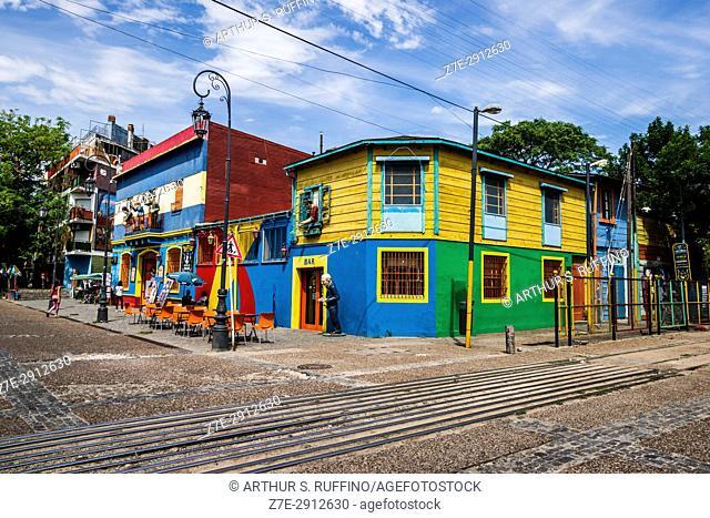 La Boca's colorful architecture. Buenos Aires, Argentina, South America