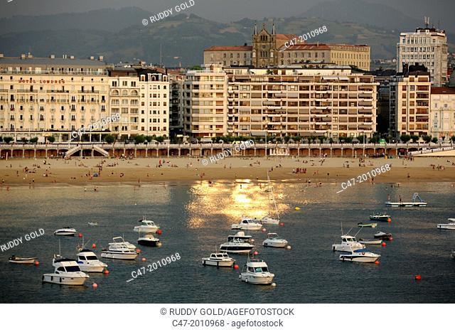 Bahía de la Concha. San Sebastian (Donostia), Basque Country, Spain