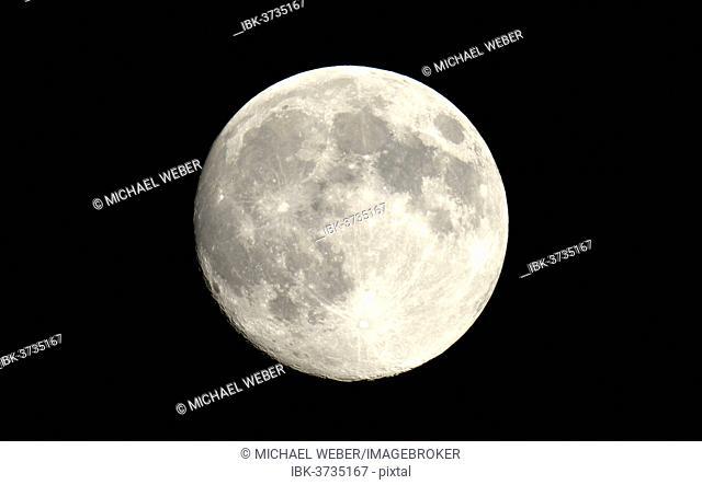 Full moon, Baden-Württemberg, Germany