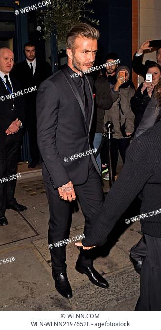 The British Fashion Awards 2014 held at London Coliseum - Departures Featuring: David Beckham Where: London, United Kingdom When: 01 Dec 2014 Credit: WENN