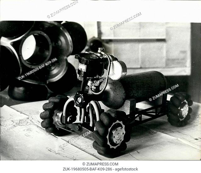 May 05, 1968 - A 'Rotoped' is born: The first functional sample of the ' Rotoped' a vehicle with a new type of driving force