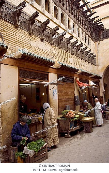 Morocco, Middle Atlas, Fes, Imperial City, Fes el Bali District, Al Talaa al Kebir Street