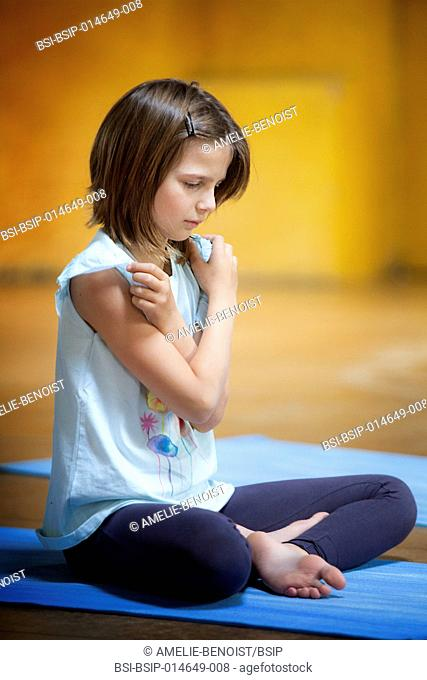 Reportage on a yoga lesson for children from 6 to 12 in Geneva, Switzerland