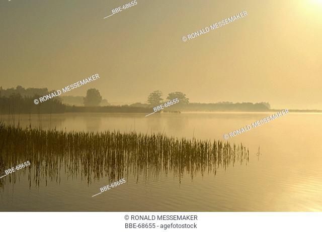 The water of the Beulakerwijde in National park Weerribben-Wieden