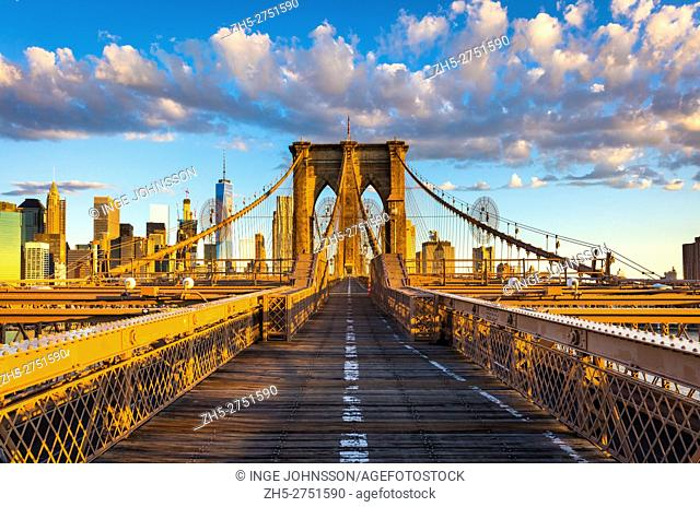 The Brooklyn Bridge is one of the oldest suspension bridges in the United States. Completed in 1883, it connects the New York City boroughs of Manhattan and...