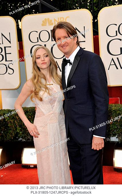 Amanda Seyfried & Tom Hooper at the 70th Golden Globe Awards at the Beverly Hilton Hotel. January 13, 2013 Beverly Hills, CA Photo by JRC / PictureLux