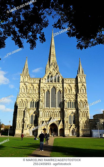 Salisbury Cathedral. Salisbury. Wiltshire. England. United Kingdom