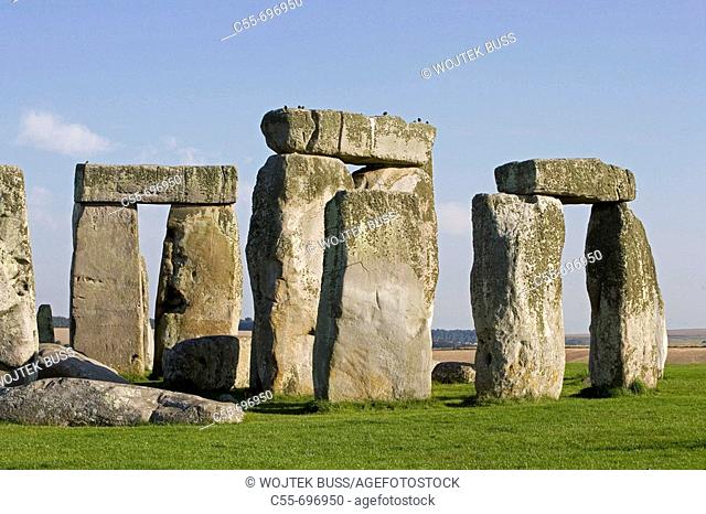 Prehistoric monument, great astronomical calendar, erected about 5000 years ago, circle of stones, UNESCO World Heritage