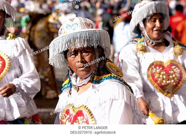 Kullawada Dancers In The Procession Of The Carnaval De Oruro, Oruro, Bolivia