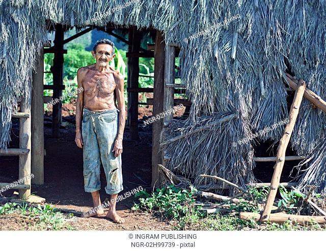 Old sympathetic cuban farmer , valley of Vinales, Cuba
