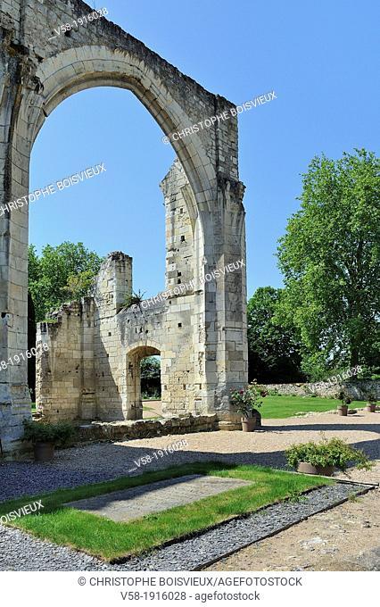 France, Indre et Loire, La Riche, Tours surroundings Prieure de Saint-Cosme also called Prieure de Ronsard, Tomb of poet Ronsard and church ruins