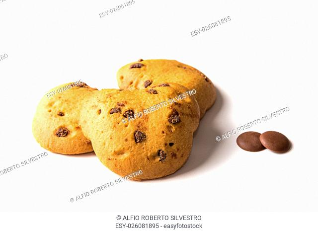 Buttermilk biscuits cooked in the oven. Italian specialties. Cookies isolated on a white background