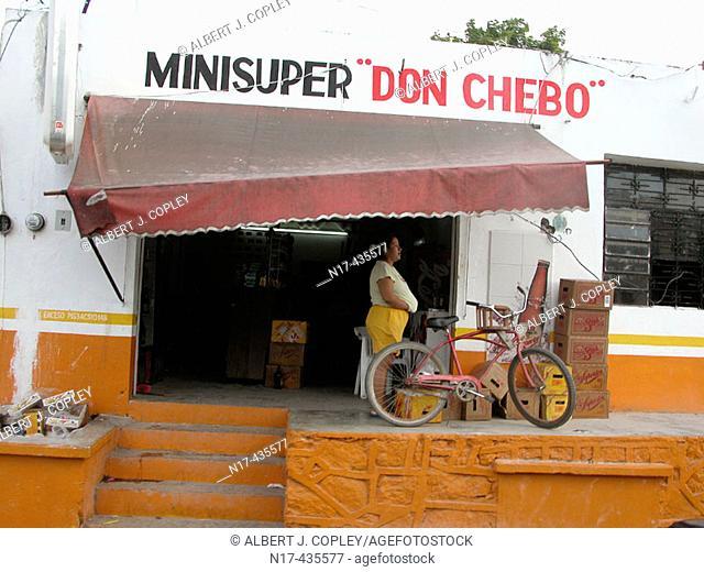 Shop in Mahahual, Mayan Riviera, Caribbean. Yucatán, Mexico