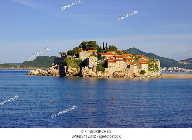 ilet and hotel resort Sveti Stefan, Montenegro