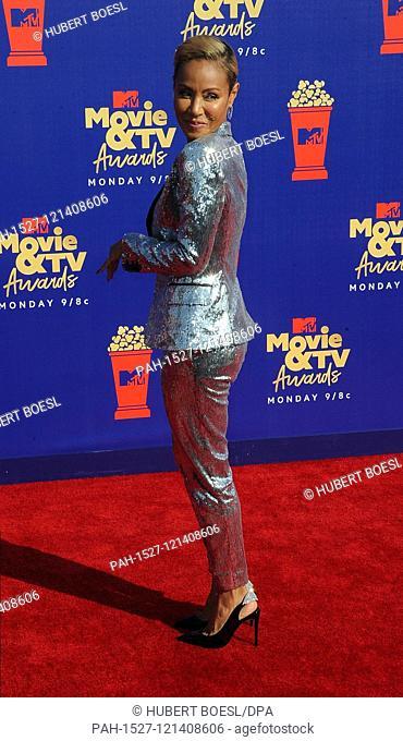 Jada Pinkett Smith attends the 2019 MTV Movie & TV Awards at Barker Hangar in Los Angeles, USA, on 15 June 2019. | usage worldwide