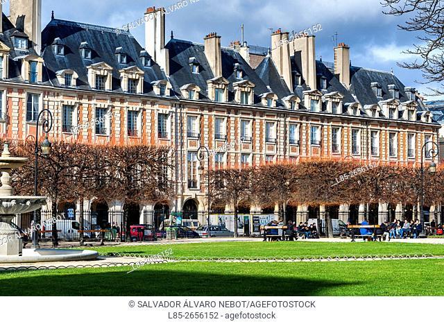 Place des Vosges, Le Marais, Paris, France, Europe
