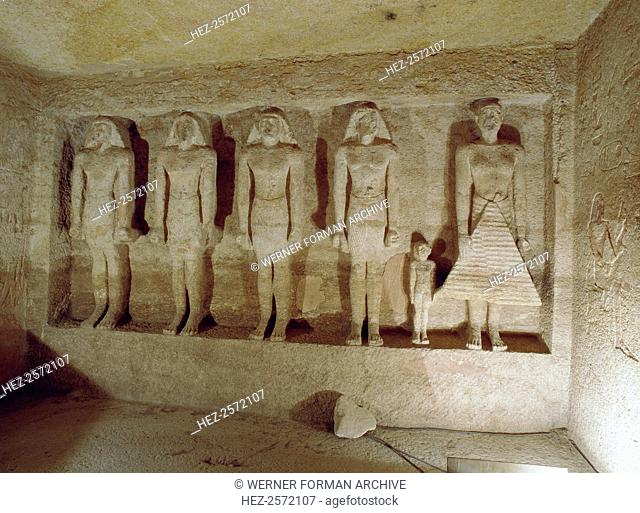 The chapel of the tomb of Meryre-nufer Qar. Meryre-nufer Qar was the 'overseer of the pyramid-towns of Khufu and Menkaure'