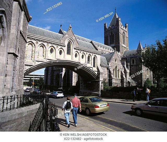 Bridge linking Synod Hall (left) and Christ Church Cathedral (right). Dublin. Ireland