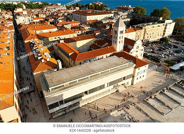 The 'Forum', City of Zadar, Zadar county, Dalmatian region, Croatia, Europe