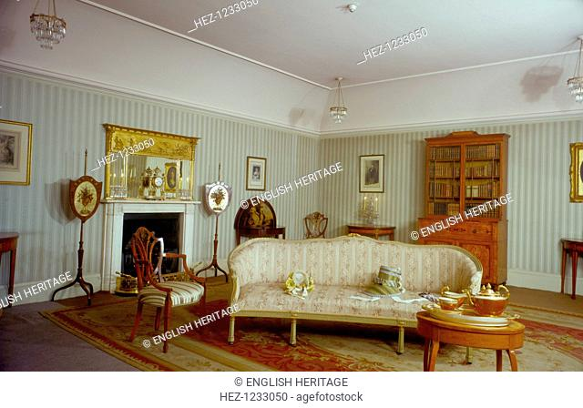 Mrs Fitzherbert's room, Royal Pavilion, Brighton, East Sussex, 1960s. The Pavilion was originally built in 1786-1787 by Henry Holland for King George IV...