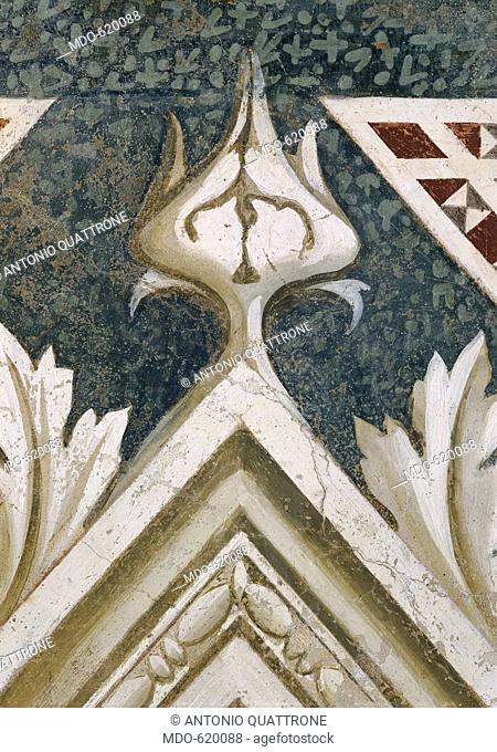 Tomb of Tessa de' Bardi: lamentation over the Dead Christ (Tomba di Tessa de' Bardi: compianto sul Cristo morto), by Taddeo Gaddi, 1335 - 1345, 14th Century
