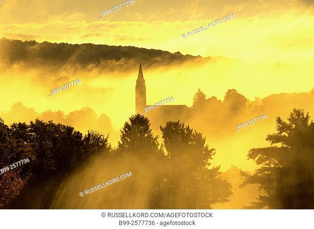 Saint Micheals Roman Catholic Church Spire Brookville Jefferson County Pennsylvania Usa
