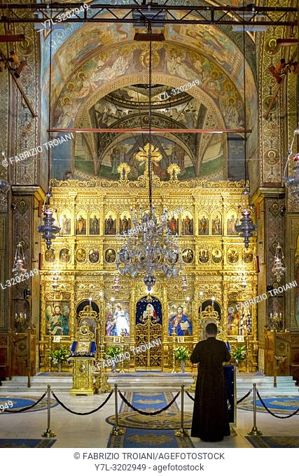 Main altar of the Romanian Orthodox Patriarchal Cathedral, Bucharest, Romania