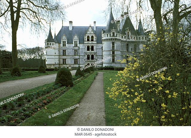 castle, azay le rideau, france